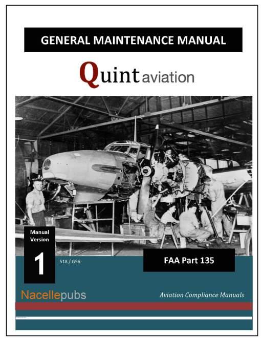Part 135 General Maintenance Manual Cover