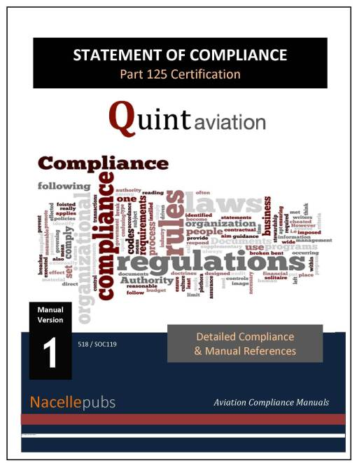 Part 125 Statement of Compliance for Part 125