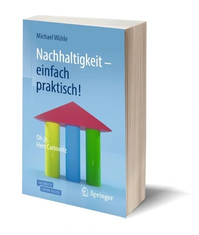Cover des Sachbuchs 'Nachhaltigkeit - einfach praktisch!' von Michael Wühle