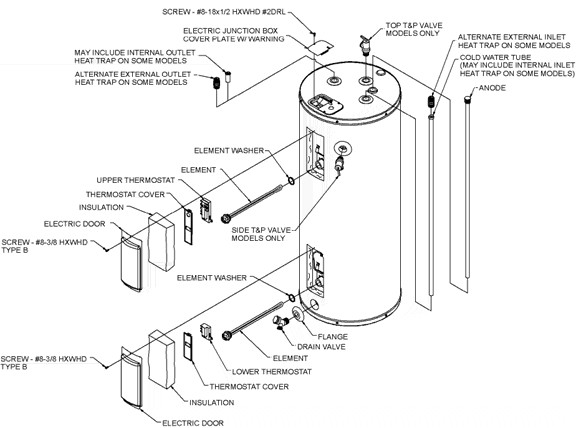 Rheem Electric Water Heater Diagram