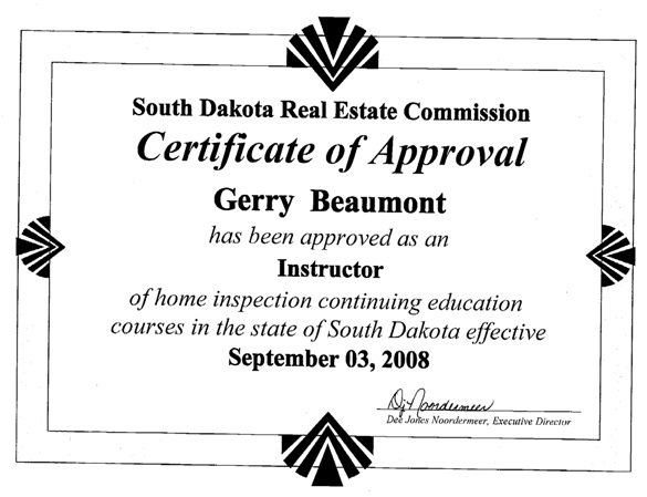 Home Inspector and Radon Tester Certification, Continuing