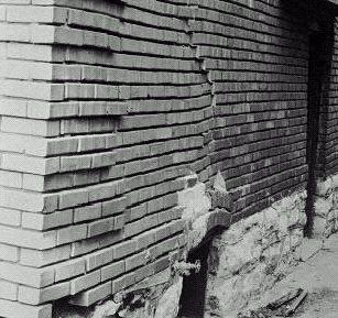 cracked masonry wall