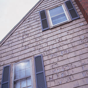 Weathered, peeling paint can contaminate soil