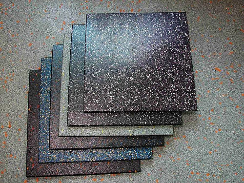 Speckled rubber tiles; photo courtesy of Tootoo.com