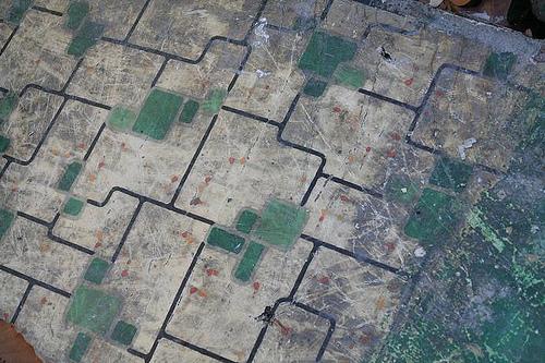 Old linoleum floor