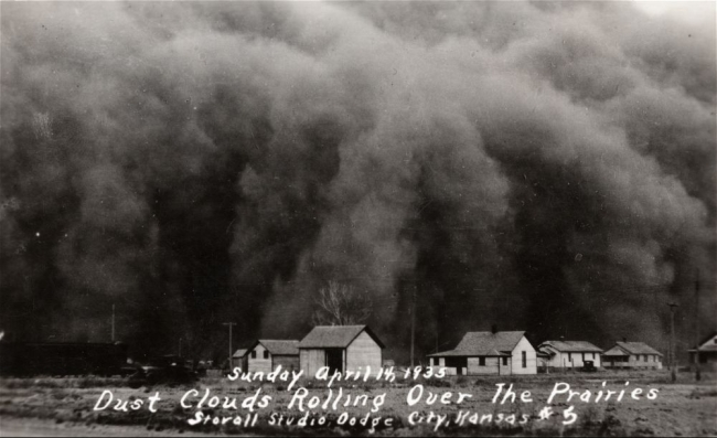 """Dust bowl """"black blizzards"""" created immense static charges"""