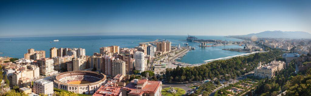 Vista panorámica de la ciudad de Málaga