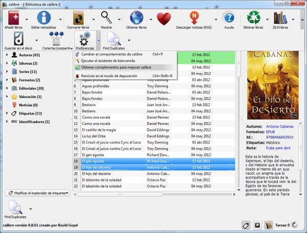 como instalar find duplicate en Calibre paraq ver libros duplicados