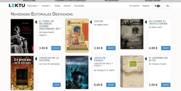 Lektu, análisis de la plataforma de ebooks sin DRM