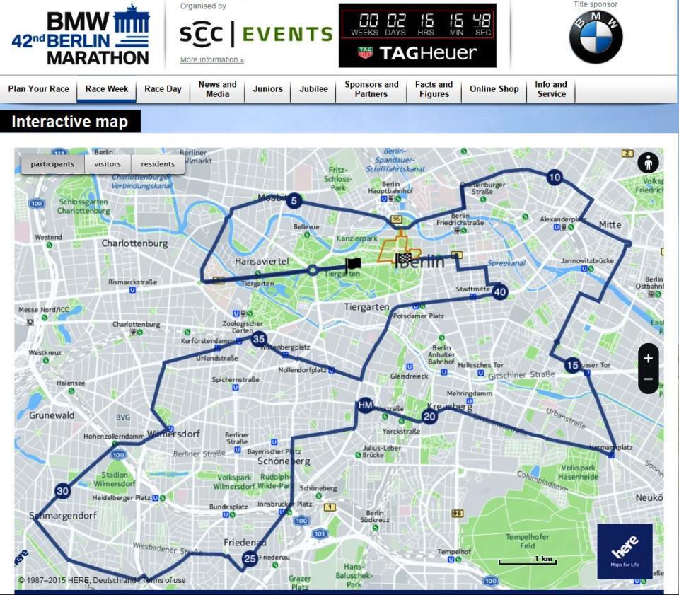 Berlin Marathon Map