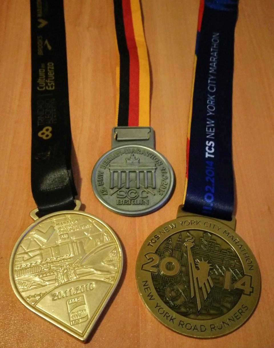 Nacho Tomás - Medalla Maraton NYC 2014 Berlin 2015 Valencia 2017