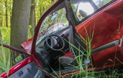 Von der Fahrbahn abgekommen und in Baumgruppe gefahren – Fahrerin mittelschwer verletzt