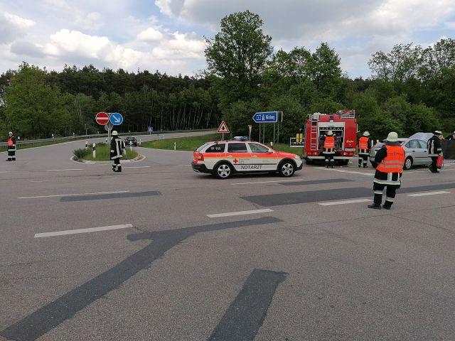 Rollerfahrer bei Unfall leben sgefährlich verletzt Foto: Pressedienst Wagner