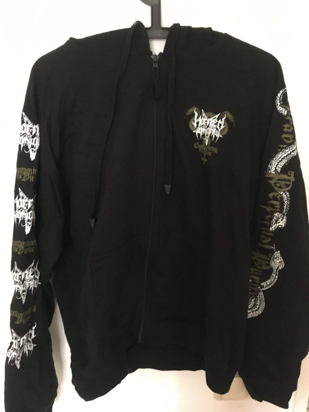 Horned Almighty Zipper Hoodie front
