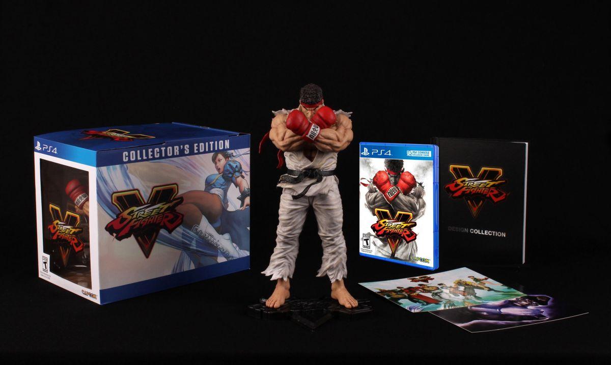 """Street Fighter V Edición Coleccionista incluye un espectacular figura de Ryu de 10"""""""