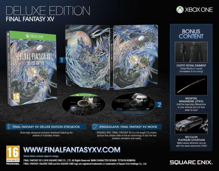 Final Fantasy XV edicion especial
