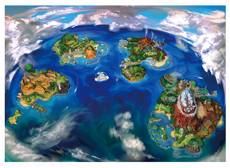 alola map Pokémon