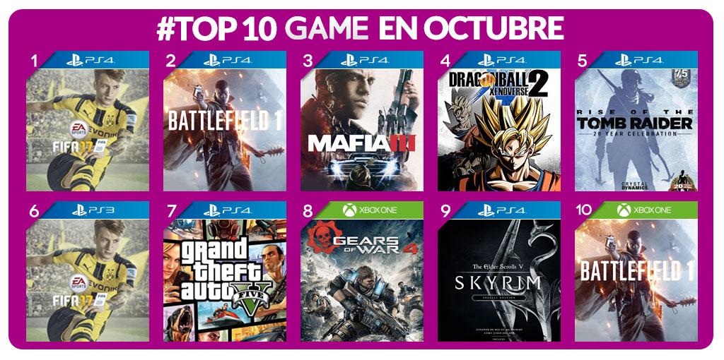 TOP 10 Game Octubre