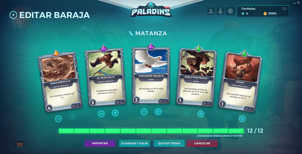 Paladins. Build decks. Buck
