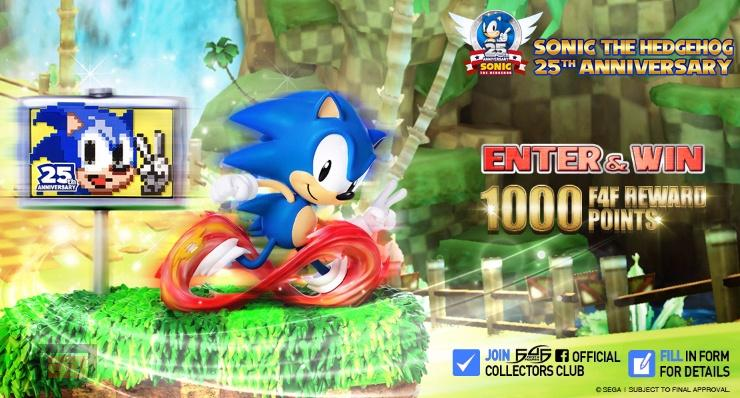 Sonic. Estatua. 25 aniversario
