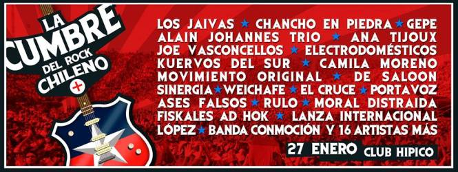 La Cumbre del Rock Chileno: Revisa los artistas confirmados para la nueva versión del evento