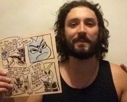 """Entrevista con Esteban Nogara, creador del cómic El Rayo: """"Me gusta que mi personaje ayude a mantener viva la llama del rock Chileno"""""""