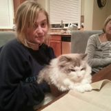 Whitney Ballen with a cat