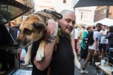 Guy With Dog @ Summit Block Party 2015 by Alex Crick for Nada Mucho