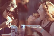 Pizza lovers. Photo by Travis Trautt.