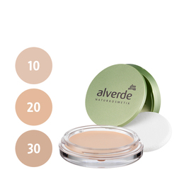 alverde Cream to Powder Compact Foundation (10 rosy ivory, 20 velvet beige, 30 caramel beige)