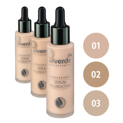 alverde Professional Serum Foundation (01 porcelain, 02 beige, 03 noisette)