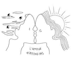 """""""L'Amour n'attend pas"""" Nade Illustrations"""