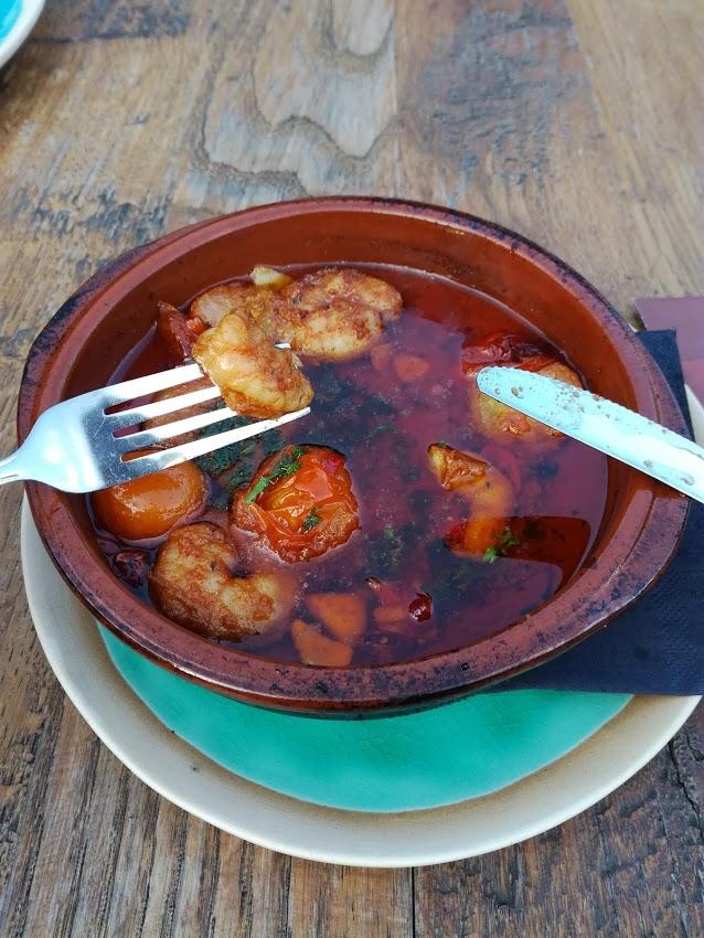 Gamba pil pil met tomaat van restaurant @thePark in Lunteren