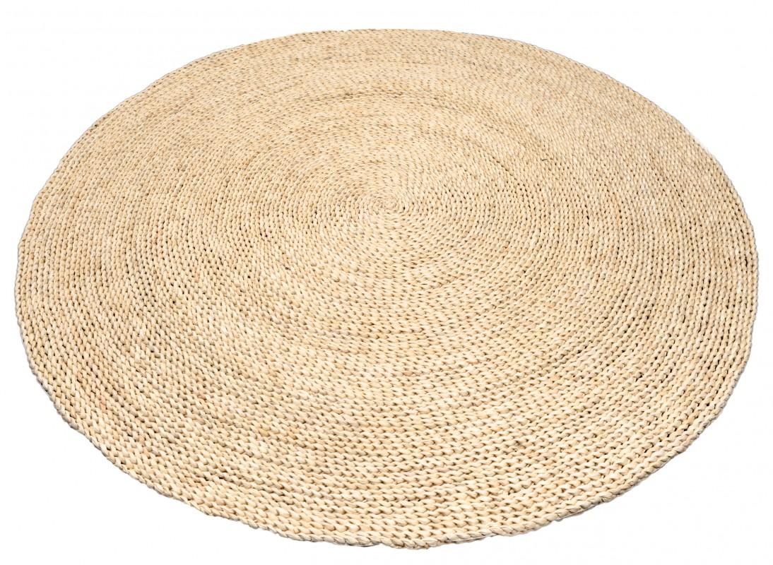 Strohteppich schlicht 60 cm rund Maisstrohteppich