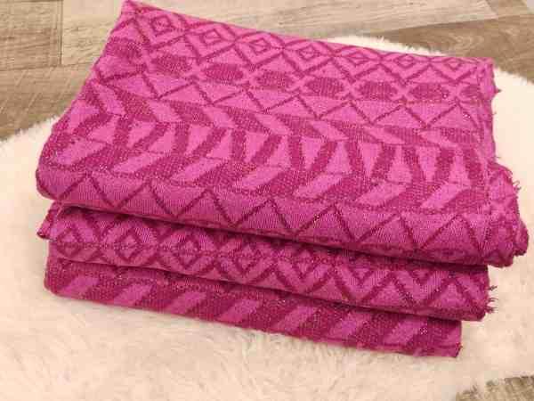 strickstoff pink