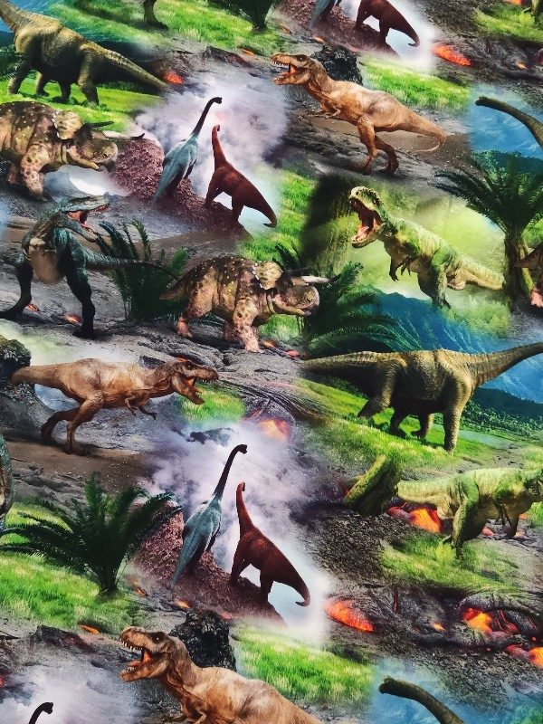 Jersey Digitaldruck Dinosaurier
