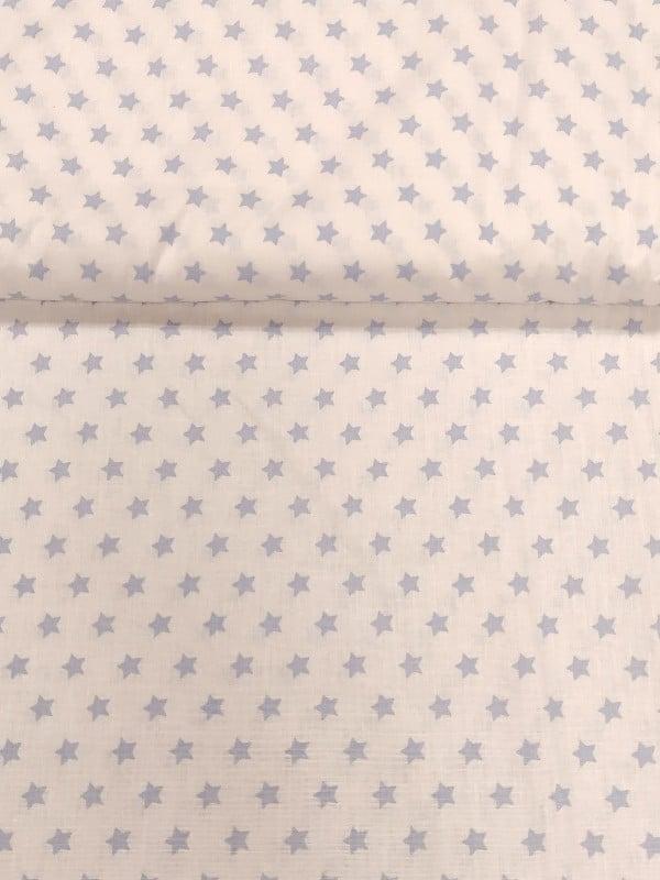 Baumwollstoff Sternchen Weiß