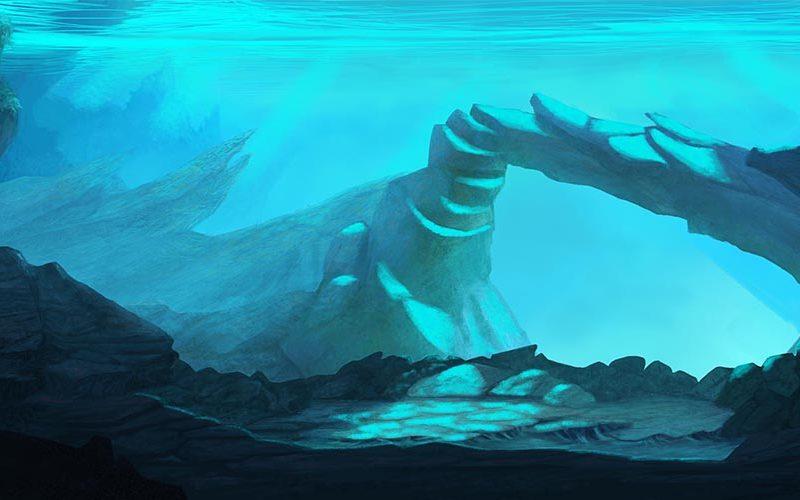 Aquarium background 2017  / Background painting for Cocoa Lopez studio.