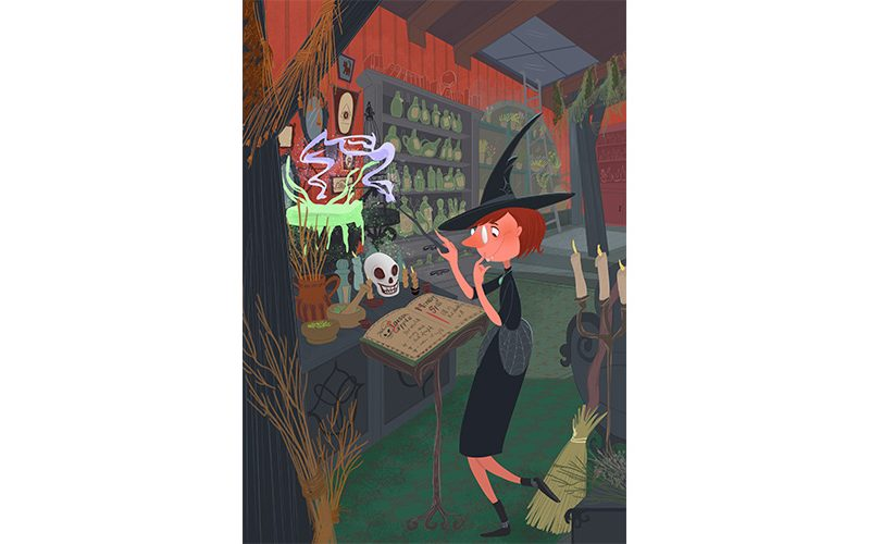 The quirky witch. 2017 / Nadia Ronquillo