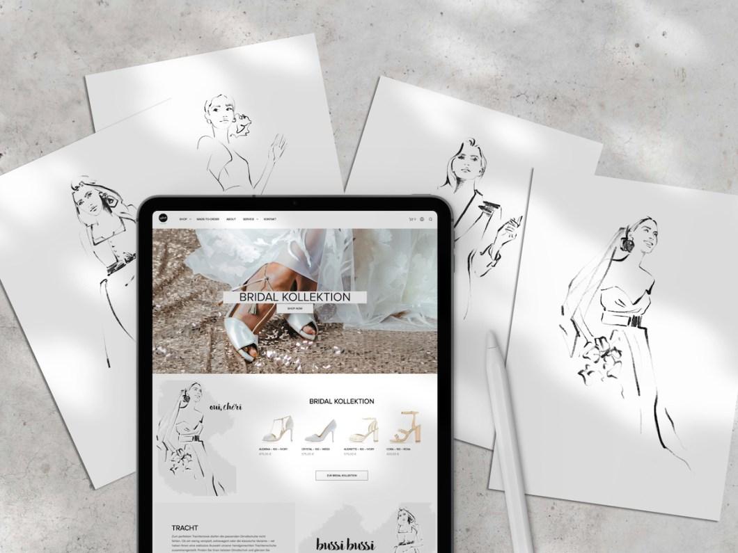 SELVE MUNICH // first part of website illustrations for designer shoe label // nadinebatista.de