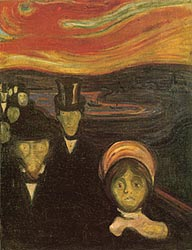"Edvard Munch, ""Anxiety"" (1894)"