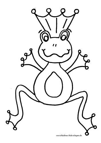 Froschknig Mit Krone Nadines Ausmalbilder