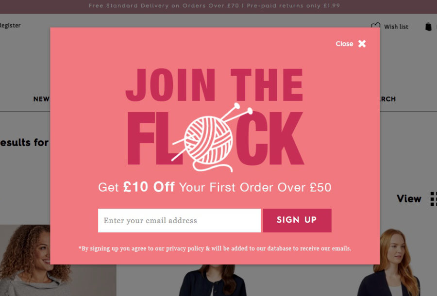 8 Beautiful Pop-up window designs to drive traffic to your website