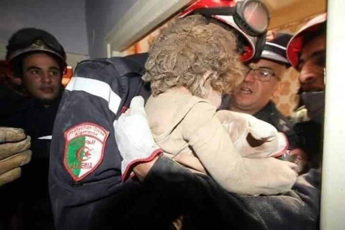 انهيار عمارة حسين داي الحماية المدنية