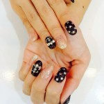 Chrome Hearts nails