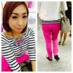 Outfit of the day: Of Stripes and Fuchsia Pink