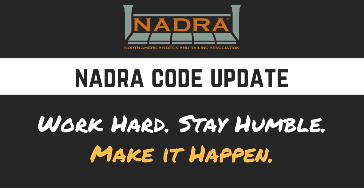 NADRA Code Update – We have only just begun.