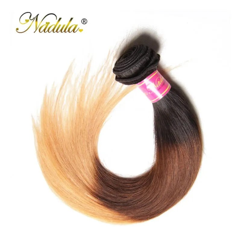 Nadula Cheap Straight Ombre Hair Weave 4 Bundles 3 Tone