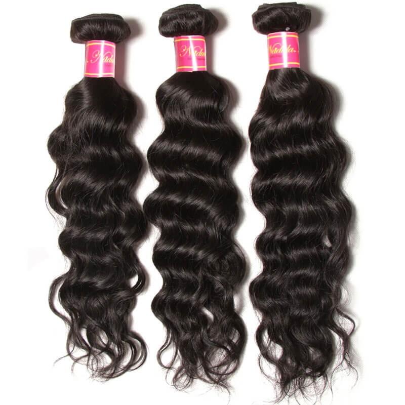 Nadula Cheap Brazilian Virgin Hair 3 Bundles Natural Wave