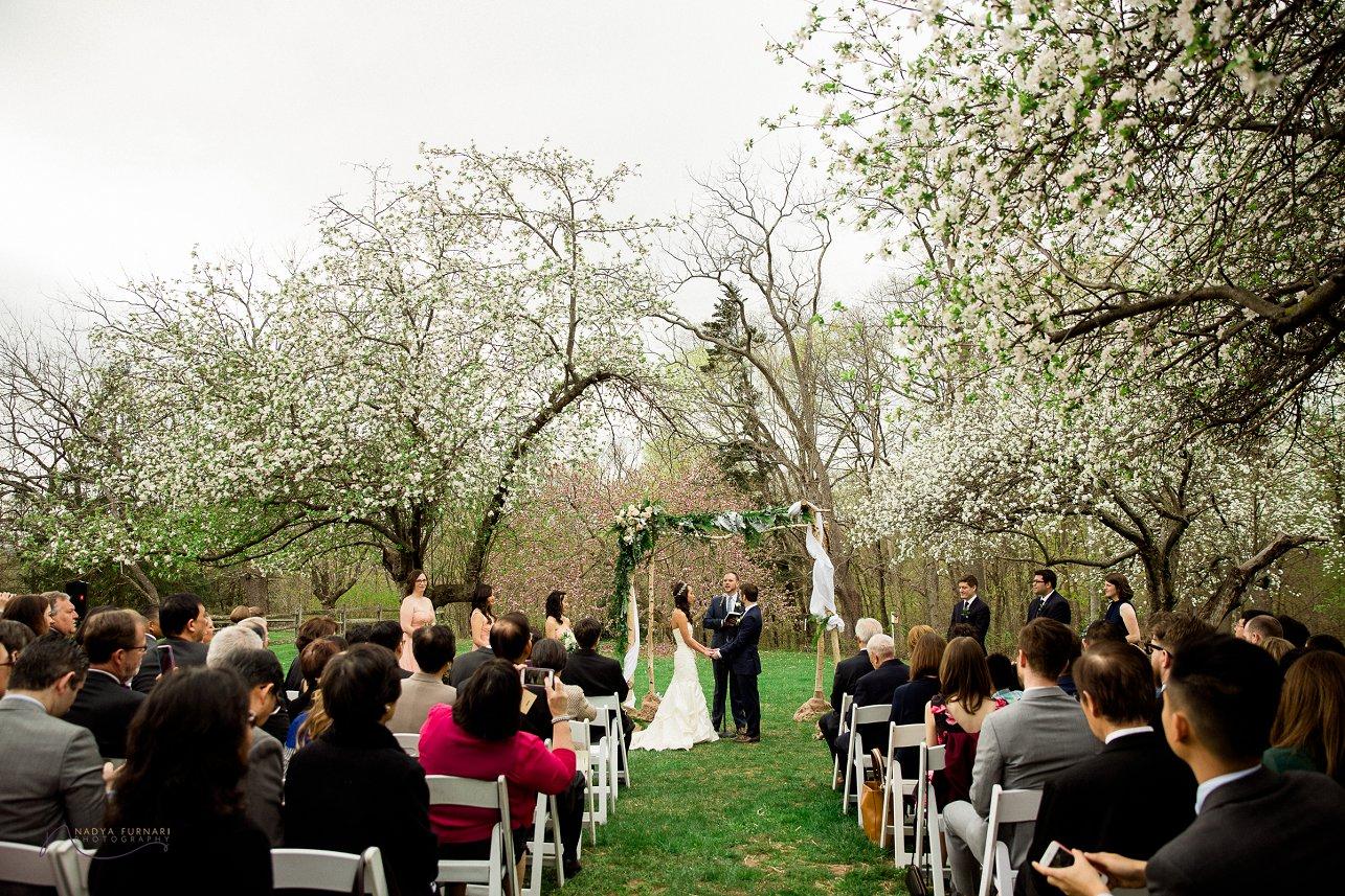 Michelle  Ryan John James Audubon Center Wedding  New